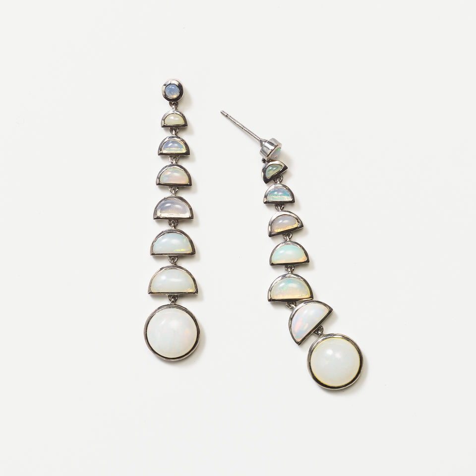 Ballbearing Earrings - Ethiopian Opal