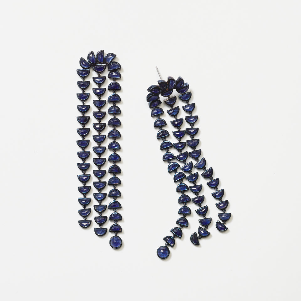 Boa Earrings - Blue Sapphire