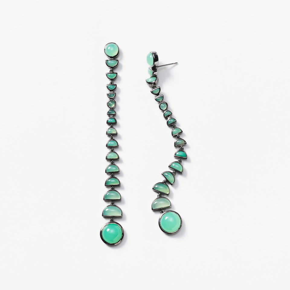 Metronome Earrings - Chrysoprase