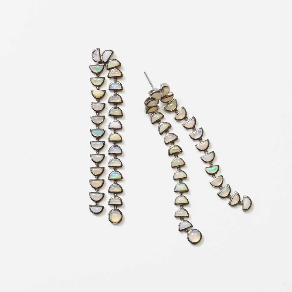 Marabou Earrings - Ethiopian Opal