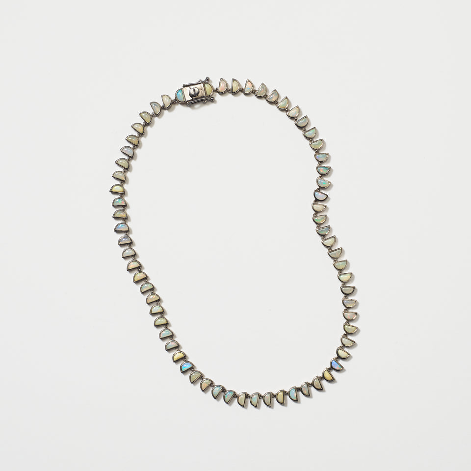 Small Worm Riviere Necklace - Ethiopian Opal