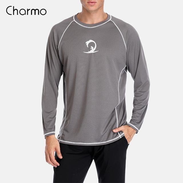 Charmo Mens Quick-Drying Rash Guard Shirts - The Eagle Ray Dive Shop