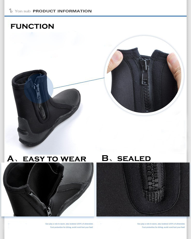 Yon Sub 5mm Non-Slip Diving Boots for Men And Women - The Eagle Ray Dive Shop