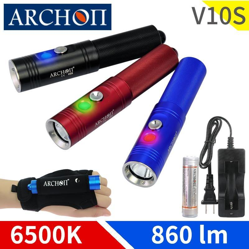 ARCHON V10S Titanium LED Flashlight - The Eagle Ray Dive Shop