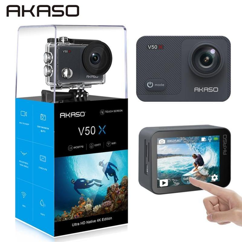 AKASO V50X Native 4K 30fps WiFi Action Camera with EIS Touch Screen - The Eagle Ray Dive Shop