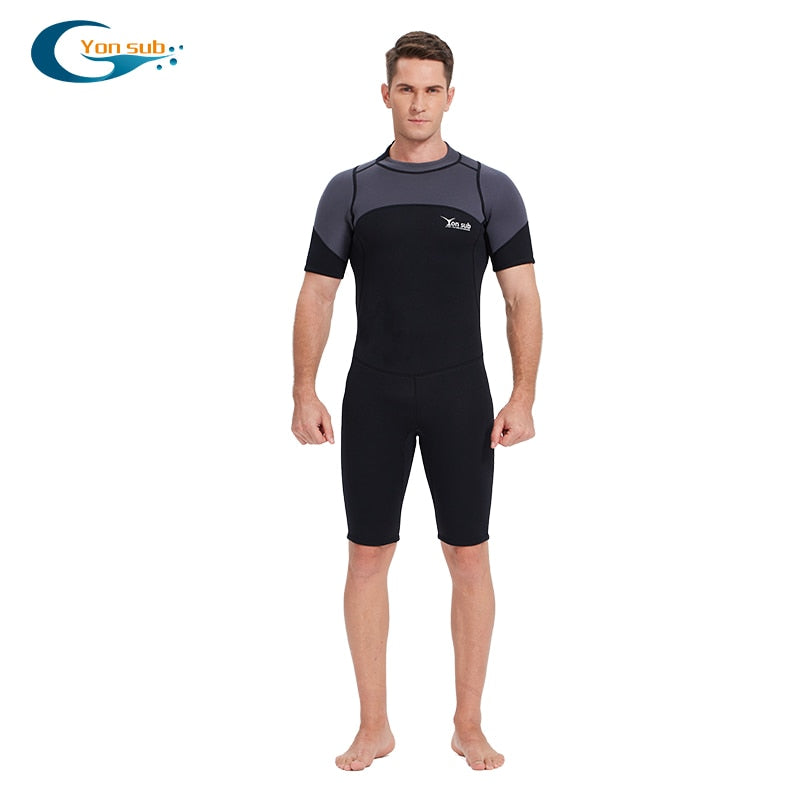 YONSUB 3MM Neoprene Shorty Wetsuit for Men - The Eagle Ray Dive Shop