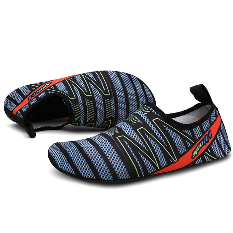 Mens Aqua Slip-on Sneakers - The Eagle Ray Dive Shop