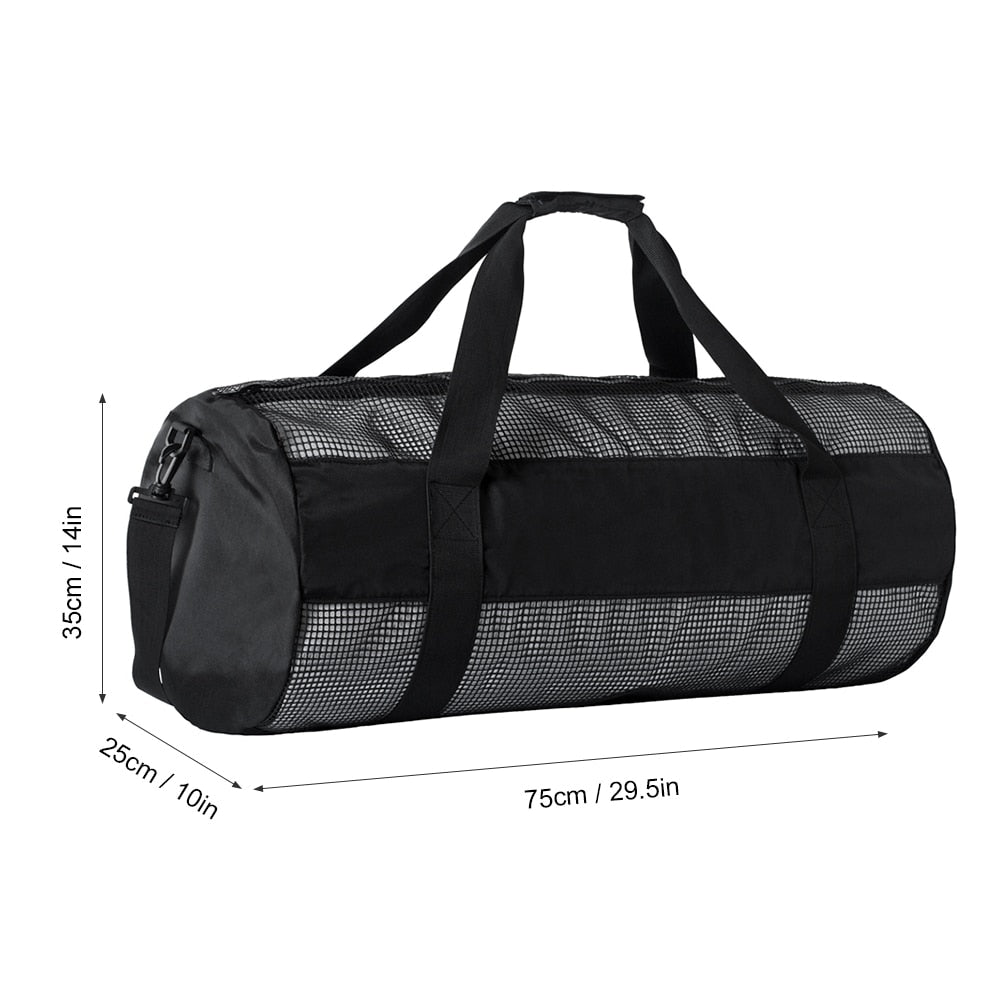 Lixada Mesh Duffel/Gear Bag with Dive Flag Logo - The Eagle Ray Dive Shop