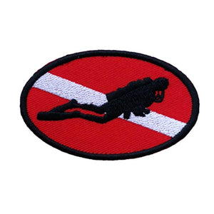 Ellipse Diver Down Flag Patch - The Eagle Ray Dive Shop