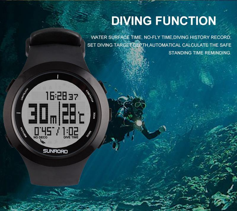 SUNROAD Scuba Diving Digital Watch/Computer - The Eagle Ray Dive Shop