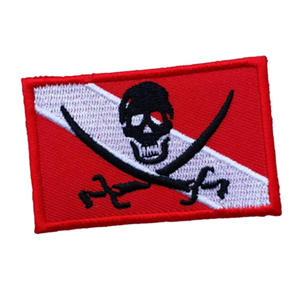 Skull Pirate Dive Flag Patch - The Eagle Ray Dive Shop