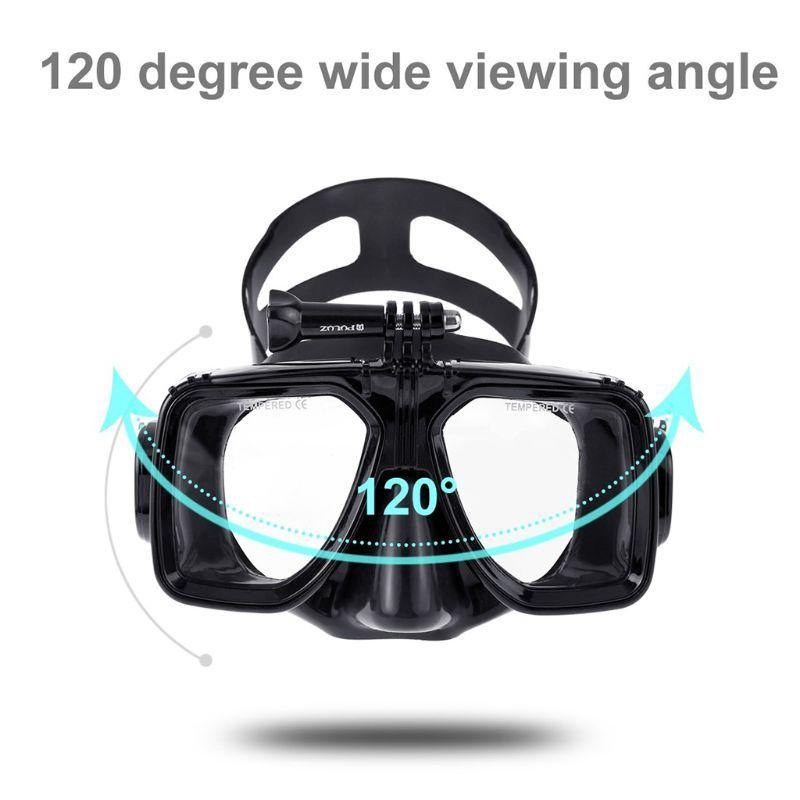 Snorkel Mask With Camera Mount For Gopro Camera - The Eagle Ray Dive Shop