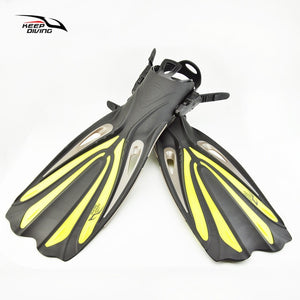 Keep Diving Open Heel Adjustable Long Fins - The Eagle Ray Dive Shop
