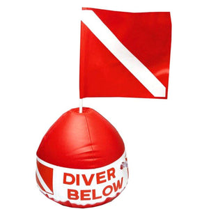 Inflatable Buoy Surface Marker with Dive Flag - The Eagle Ray Dive Shop