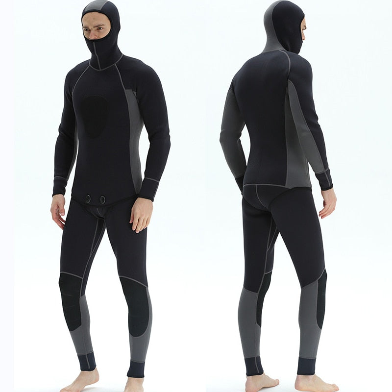 Mens Split Type Full Body Wetsuit with Hood - The Eagle Ray Dive Shop
