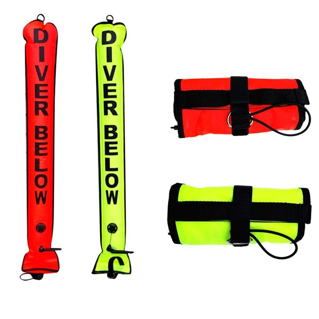 Nylon TPU High Visibility 4ft SMB Surface Marker Buoy - The Eagle Ray Dive Shop