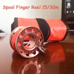 Scuba Diving Aluminum Alloy Spool/Finger Reel 15/30m Versions - The Eagle Ray Dive Shop
