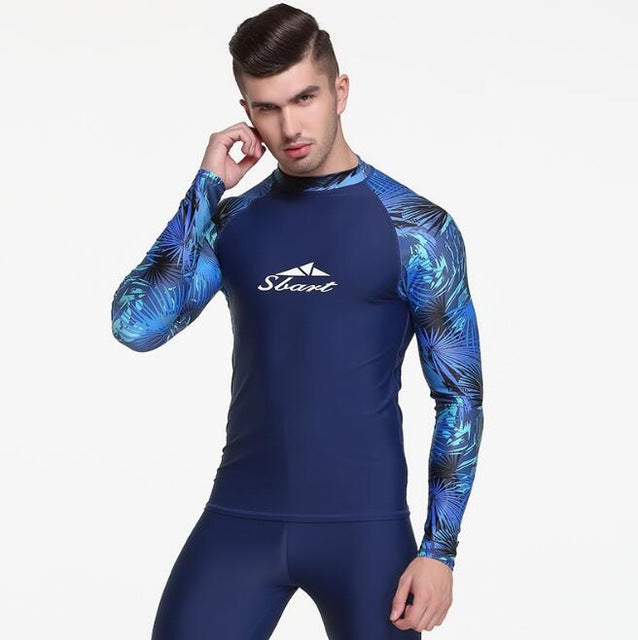 Sbart Mens Rash Guard - Provides UPF 50+ UV Sun Protection - The Eagle Ray Dive Shop