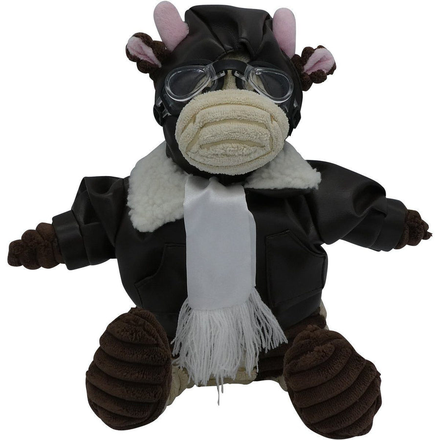 "12"" Junior Cow Pilot Plush Corduroy Aviator PilotMall.com"