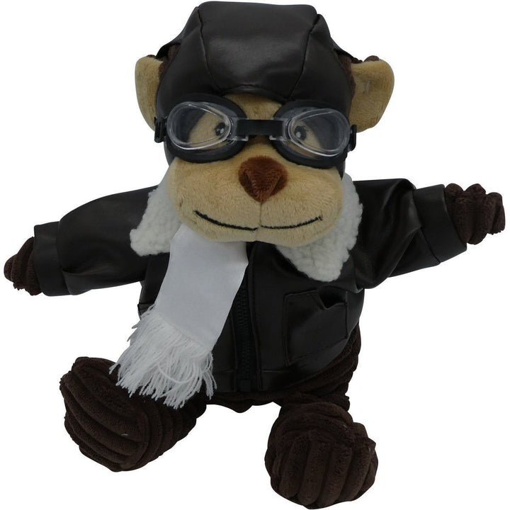 "12"" Junior Monkey Pilot Plush Corduroy Aviator PilotMall.com"