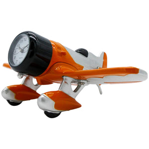 Orange and Silver Gee Bee Desk Clock