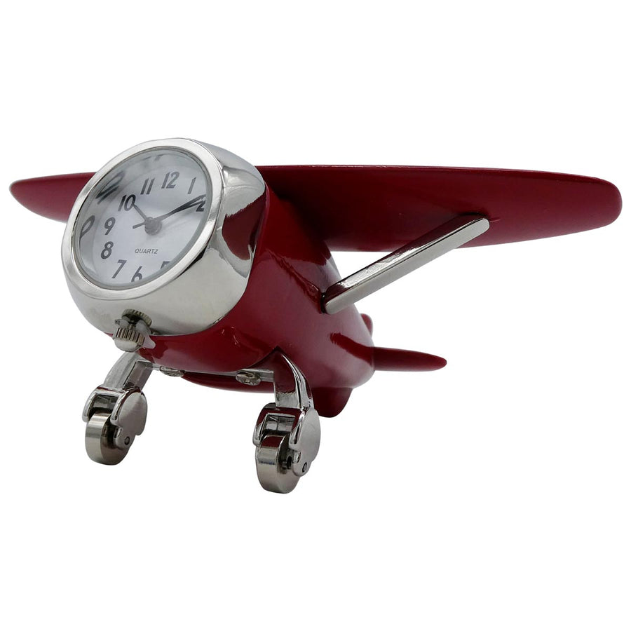Red High Wing Desk Clock