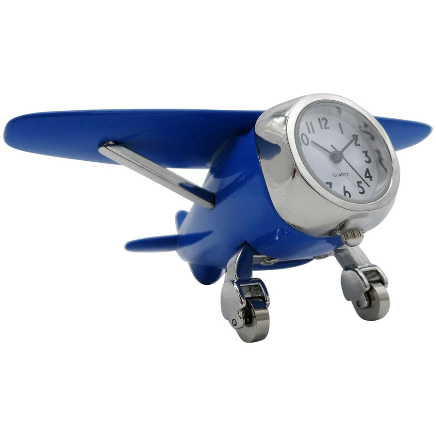Blue High Wing Desk Clock