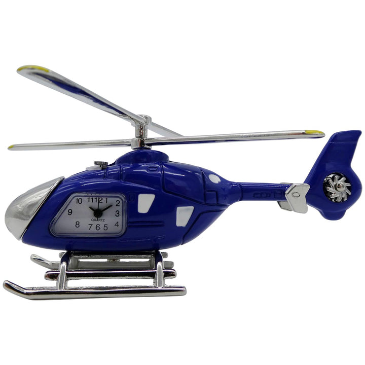 Blue Helicopter Desk Clock
