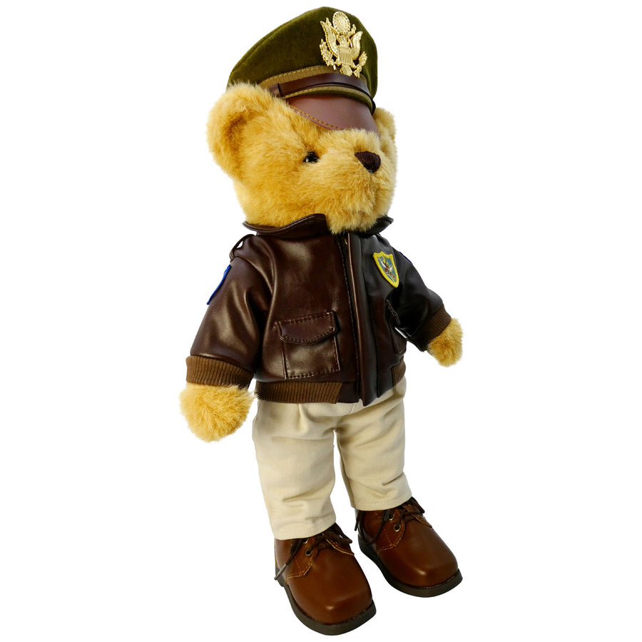 "Flying Tigers Museum Quality Plush Military Bear 16"" Tall"