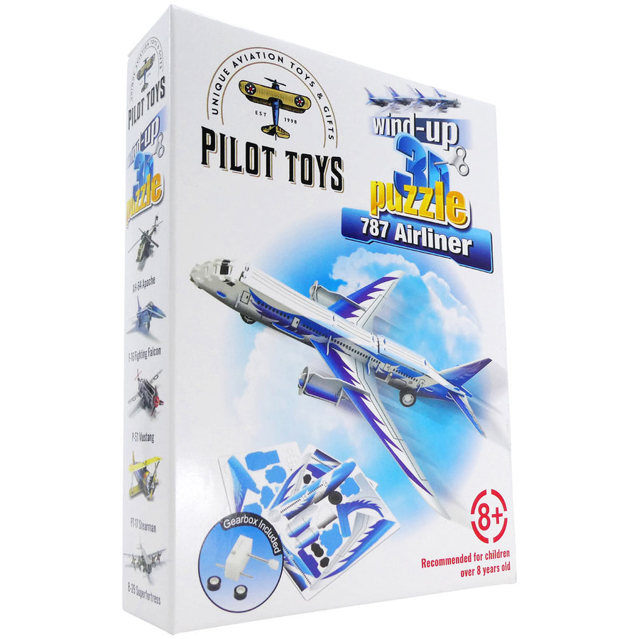 787 Airliner Wind-Up 3D Puzzle