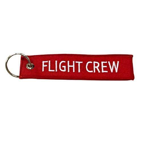 "Flight Crew Embroidered 5"" Embroidered Keychain PilotMall.com"