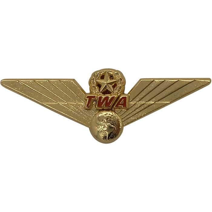 TWA 3D Retro Wing Pin PilotMall.com