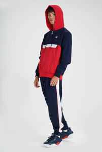Macker 2 Colour Block Pullover Hoodie