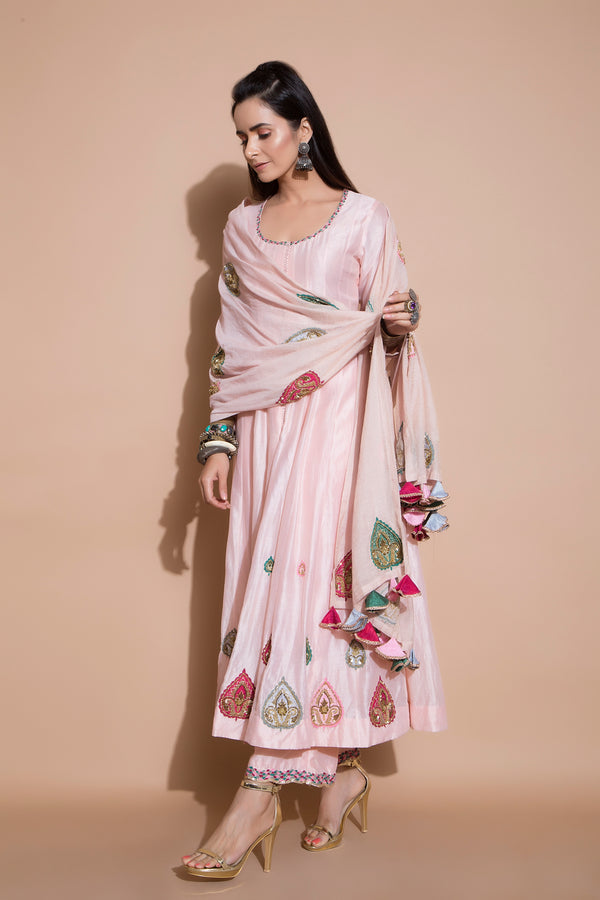 Zardosi Embroidered Kurta Set-Indian wear-pallavijaipur.com