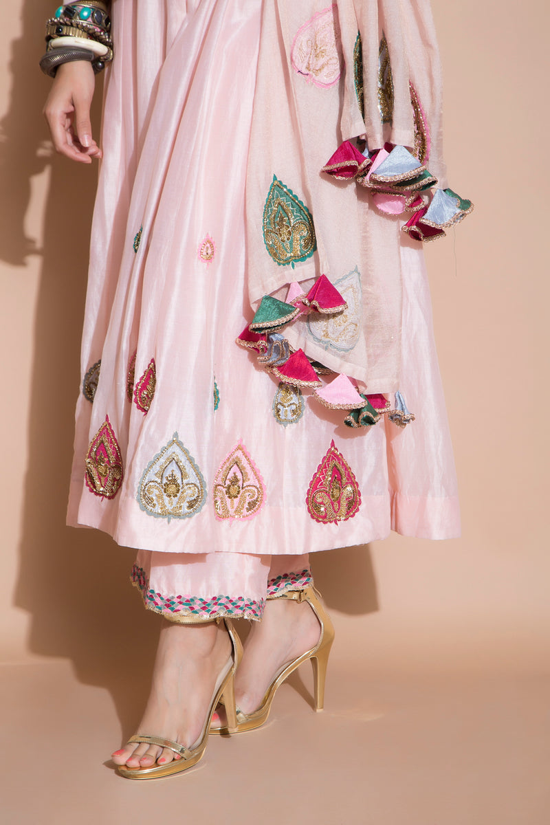 Zardosi Embroidered Kurta Set-Indian wear-Pallavi Jaipur