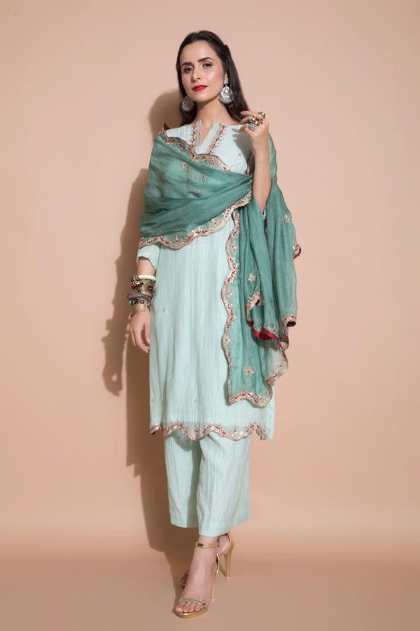 Jade Green Kurta Set-Indian wear-pallavijaipur.com