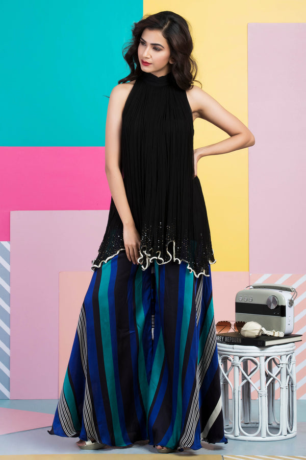 Halter Long Top with Pants-Indo Western-pallavijaipur.com