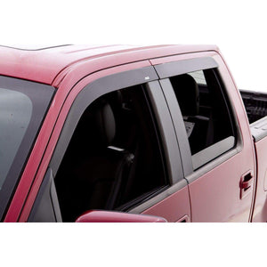 AVS Ventvisor 4-Piece Matte Black Window Deflector Set | 2015-2020 Ford F-150 SuperCrew (774044)-thumbnail