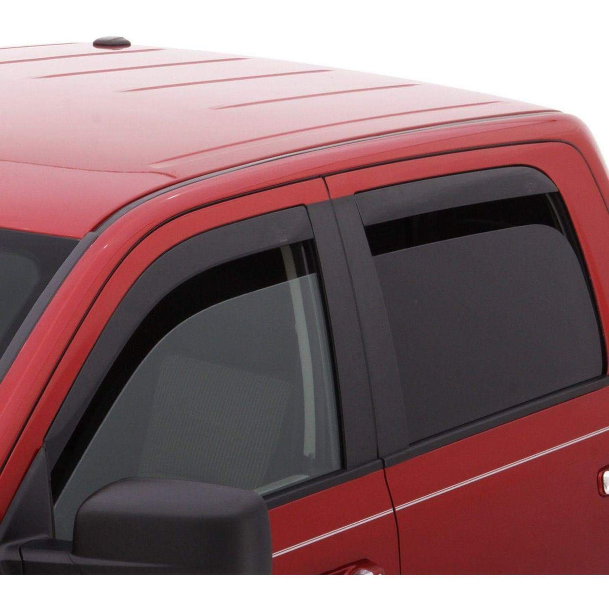AVS Ventvisor 4-Piece Dark Smoke Window Deflector Set | 2015-2020 Ford F-150 SuperCrew (894044)