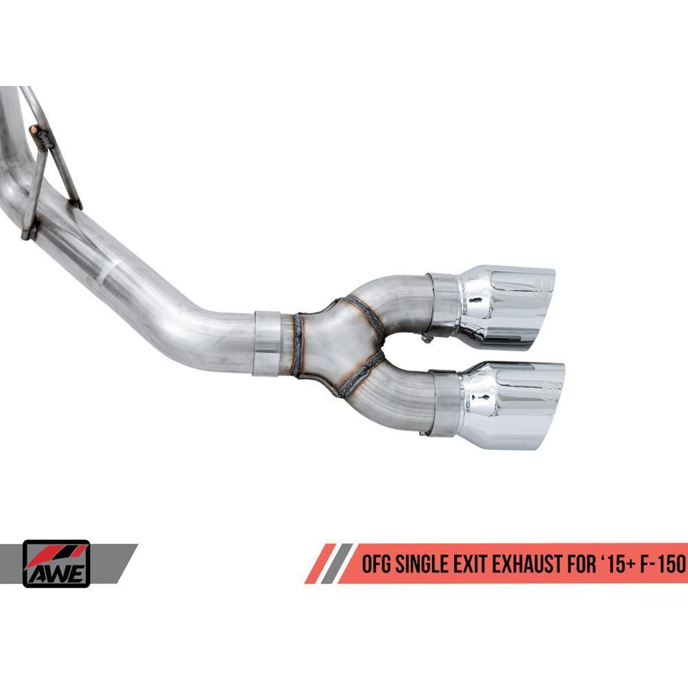 AWE 0FG Single Side Exit Exhaust | 2015-2020 Ford F-150 EcoBoost/Coyote (3015-22066)