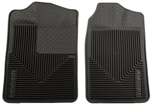 1988-1998 Chevy/GMC C/K Series Truck/73-93 Dodge Ram Heavy Duty Black Front Floor Mats by Husky Liners (51011) - Modern Automotive Performance -thumbnail