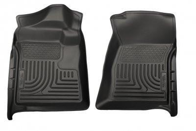 2007-2012 Chevrolet Silverado/GMC Sierra Regular Cab WeatherBeater Black Floor Liners by Husky Liners (18221) - Modern Automotive Performance