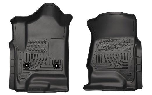 2014 Chevrolet Silverado/GMC Sierra 1500 Weatherbeater Black Front Floor Liners by Husky Liners (18241) - Modern Automotive Performance