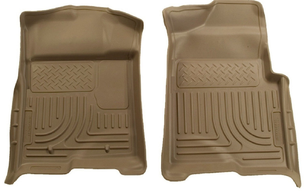 2009-2012 Ford F-150 Regular/Super/Super Crew Cab WeatherBeater Tan Floor Liners by Husky Liners (18333) - Modern Automotive Performance