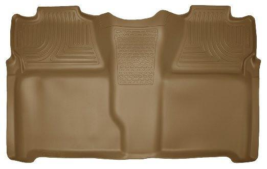 2007-2013 Chevy Silverado Crew Cab PU Weatherbeater Tan 2nd Seat Floor Liner by Husky Liners (19203) - Modern Automotive Performance