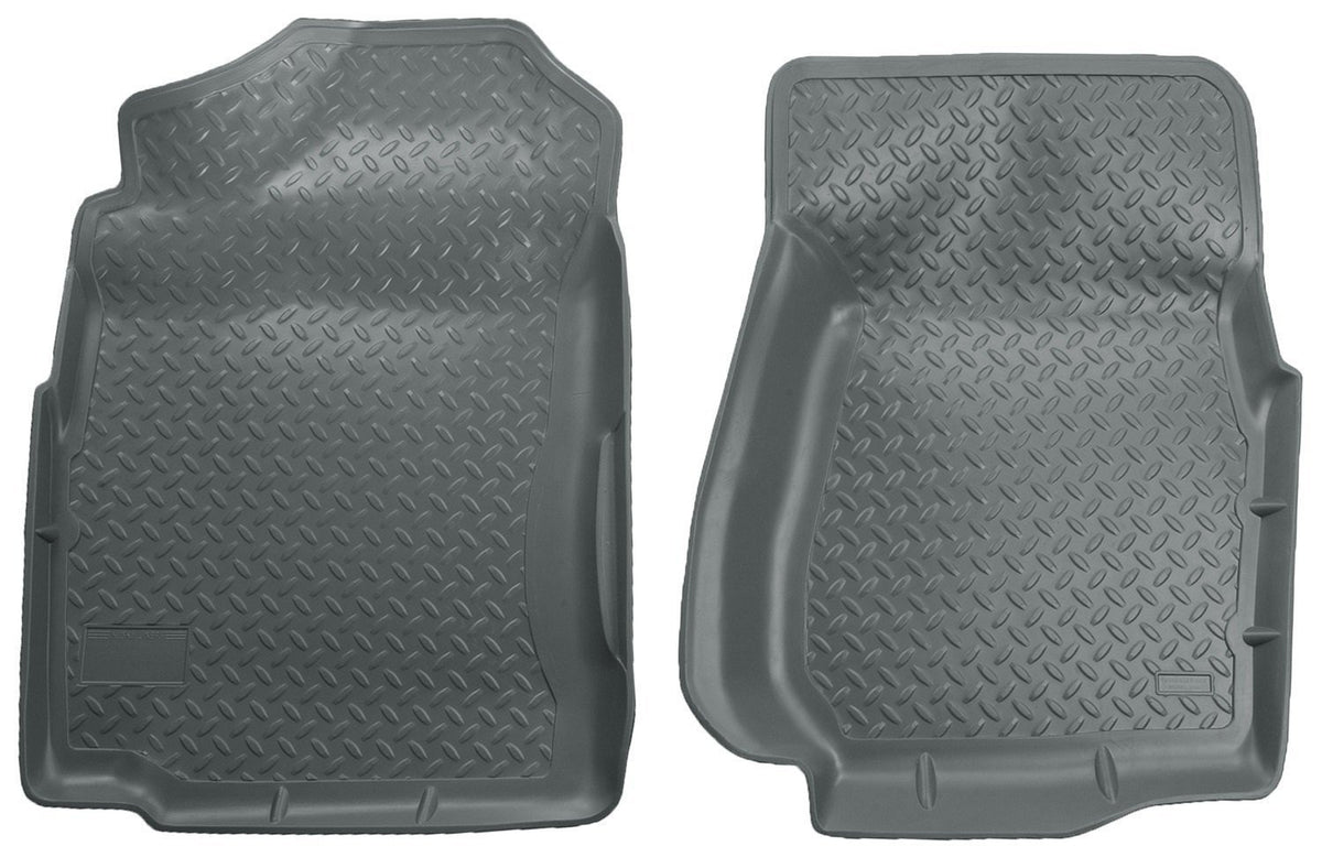 1999-2006 Chevrolet Silverado/GMC Sierra (Base/HD) Classic Style Gray Floor Liners by Husky Liners (31402) - Modern Automotive Performance