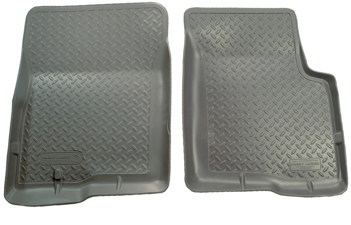 1997-2004 Ford Truck (1/2 and 3/4 Ton Light Duty Only) Classic Style Gray Floor Liners by Husky Liners (33302) - Modern Automotive Performance