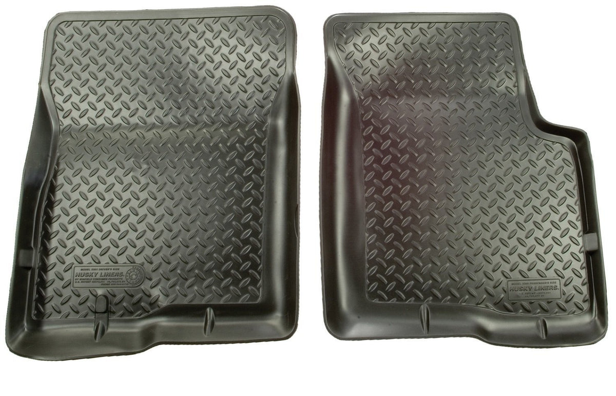 1999 Ford F-Series HD/SuperDuty Reg/Super/Super Crew Cab Classic Style Black Floor Liners by Husky Liners (33811) - Modern Automotive Performance