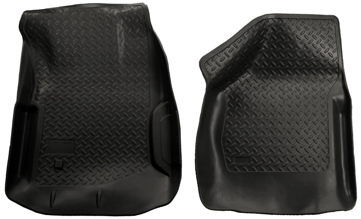 2000-2007 Ford F-Series SuperDuty Reg./Super/Super Crew Cab Classic Style Black Floor Liner by Husky Liners (33851) - Modern Automotive Performance
