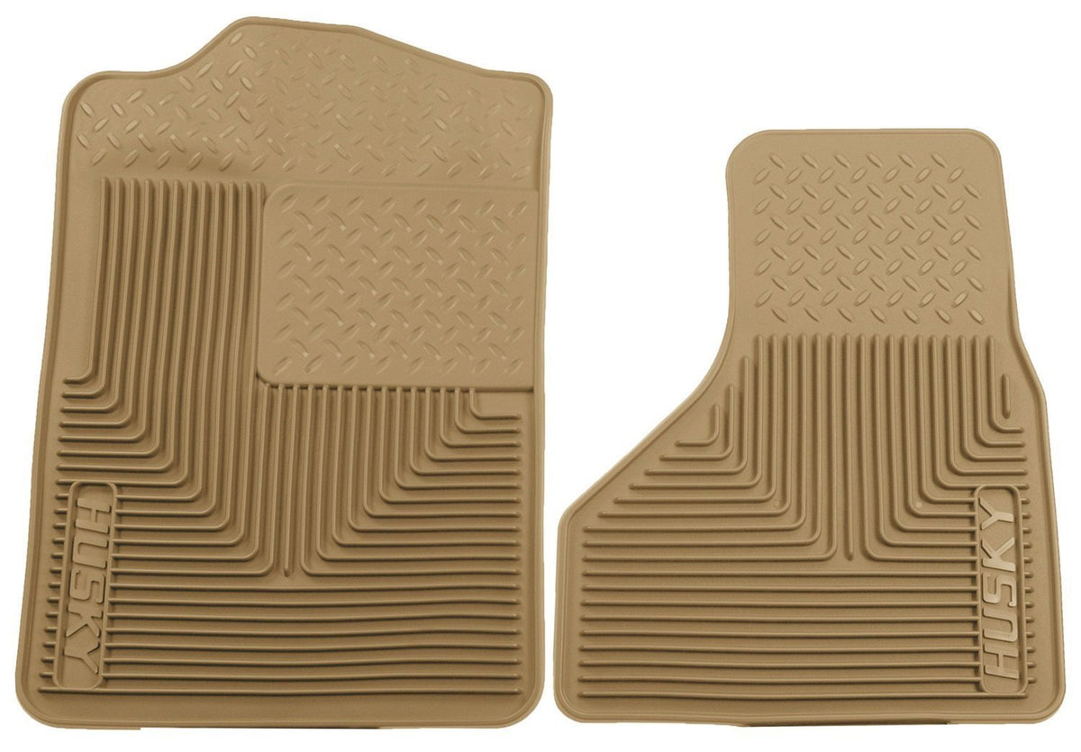 2008-2010 Ford F-250/F-350/F-450 SuperDuty Heavy Duty Tan Front Floor Mats by Husky Liners (51203) - Modern Automotive Performance